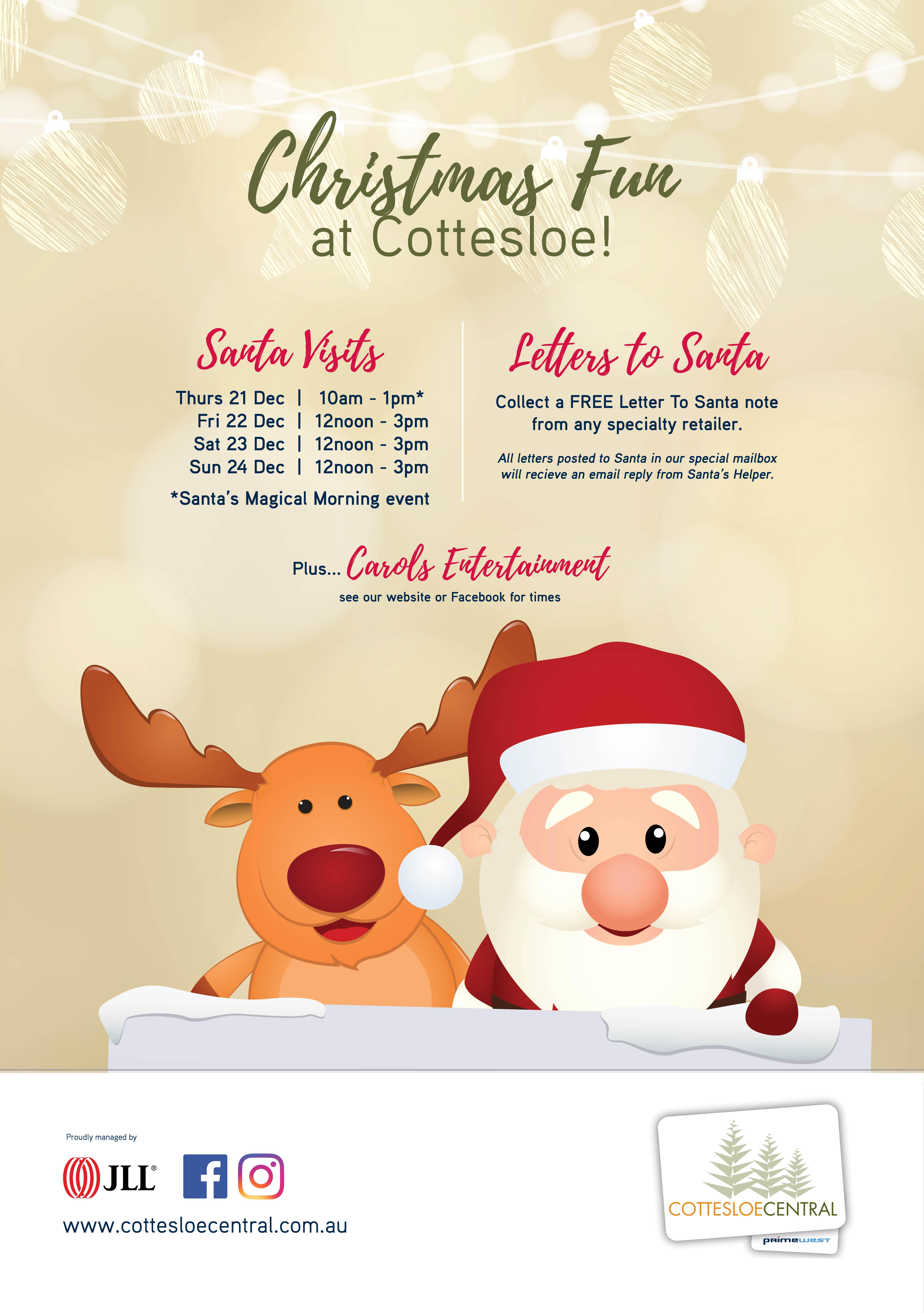 Christmas fun at cottesloe central cottesloe central santa visits spiritdancerdesigns Gallery